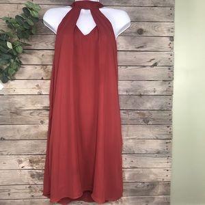 Krisa | Revolve copper halter dress size large